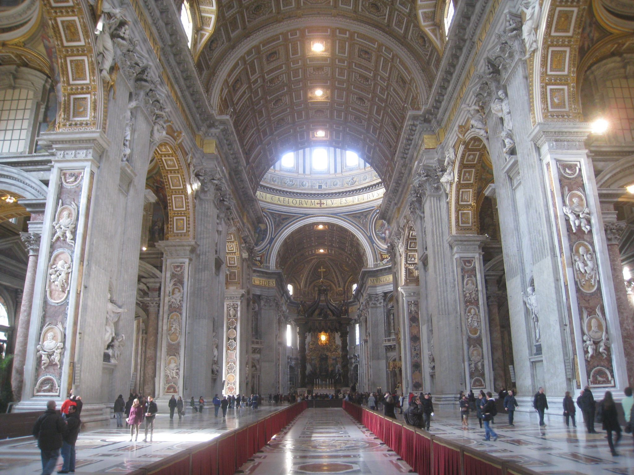 Inside Saint Peter Basilica